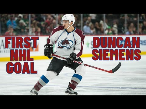Duncan Siemens #15 (Colorado Avalanche) first NHL goal 28.02.2018
