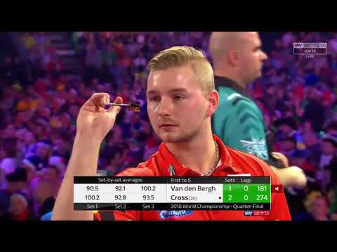 Cross vs Van den Bergh. World Darts Championship. Quarter Final. Set 3+4