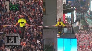 Flying Wallendas Make History Crossing Times Square On Tightrope