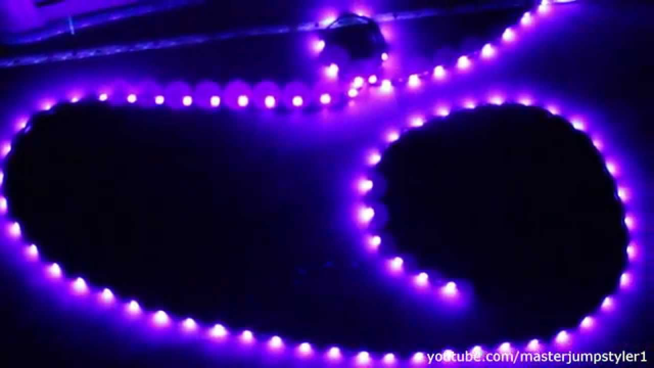 Livarno LUX 5m UV-LED Band // Unboxing und Test // UV-LED ...