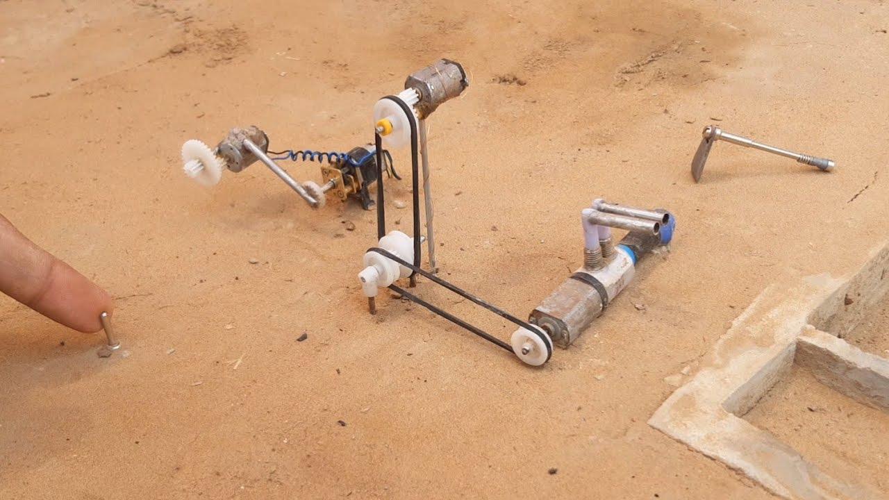 DIY mini machine motor - science project