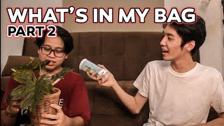 "IMPROVE COMEDY - ""What's in my bag challenge"" Part.2 (feat @Alphiandi ​ )"