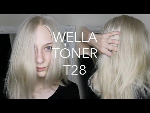 Wella T28 Demo Watch Me Tone My Blonde Hair Youtube
