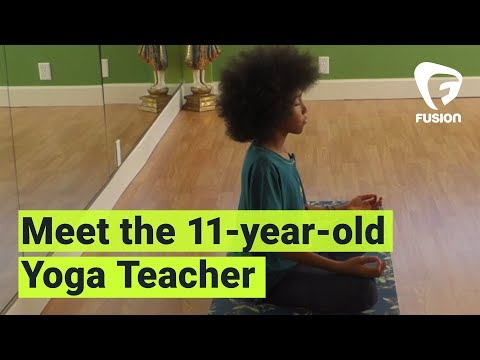 11-yr-old Yoga Teacher Gives Back
