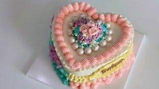 하트케이크 반할 수 밖에 없는 디자인 / cake de…