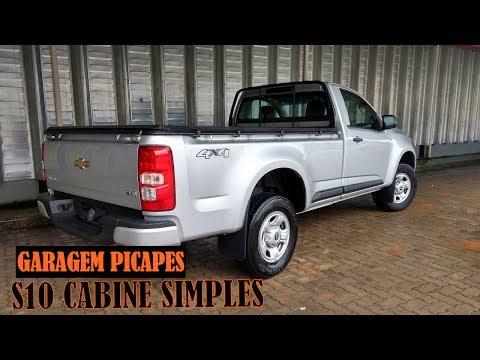 Garagem Picapes S10 cabine simples tem for a bruta e 200 cv com c mbio manual
