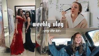 WEEKLY VLOG   Prom dress shopping, School, & Photoshoots