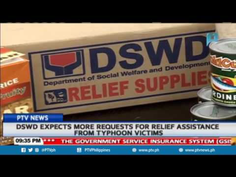 DSWD expects more requests for relief assistance from typhoon victims