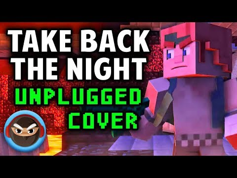"""TAKE BACK THE NIGHT"" UNPLUGGED (Acoustic Cover) by TryHardNinja [MINECRAFT SONG]"