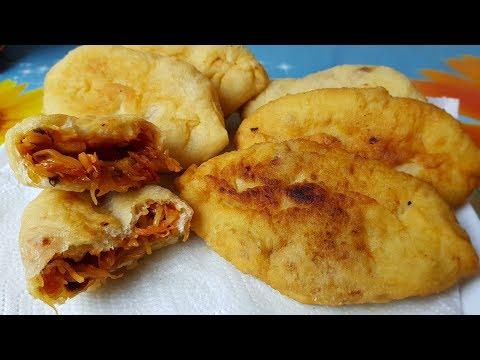 Пирожки с капустой и грибами, цыганка готовит. Постное меню. Gipsy Cuisine.