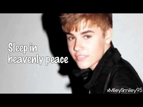 Justin Bieber - Silent Night (with lyrics)