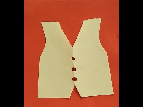 Super easy paper cutting:vest