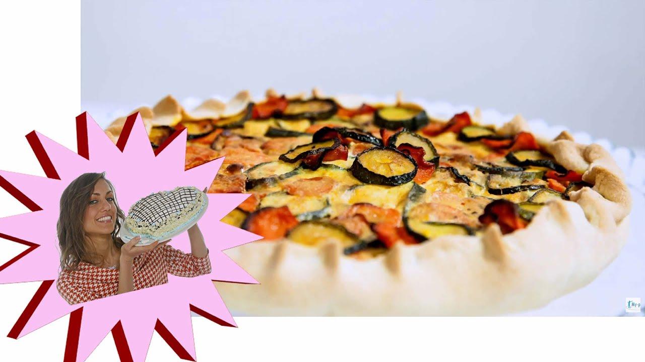 Torta Salata LIGHT , Con Zucchine e Carote, Senza Uova e Burro