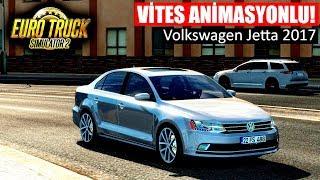 VİTES ANİMASYONLU! - Volkswagen Jetta 2017 Araba Modu - ETS 2 1.33 Türkiye Haritası (Bingöl-Van) G29
