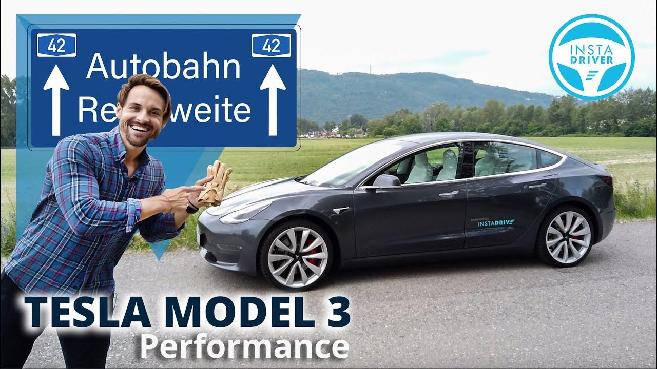 Tesla Model 3 Performance | DER AUTOBAHN TEST - Reichweite & Verbrauch