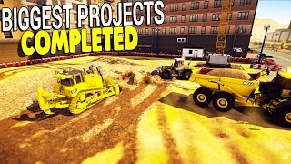 BIG CITY CONSTRUCTION $$$ - BUILDING MALL & HUGE ROADS | Construction Simulator 2 Gameplay
