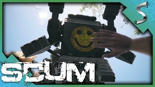 ATTEMPTING TO FIGHT THE SENTRY ROBOTS! - Scum [Gameplay E4]