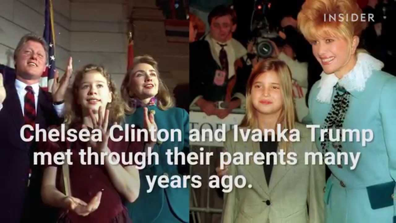 Chelsea Clinton and Ivanka Trump are BFFs - YouTube