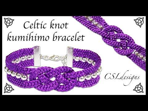 Celtic knot kumihimo bracelet