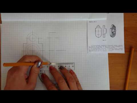 Как делать местный разрез на чертеже