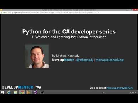 Part 1: Lightning introduction - Python for the CSharp developer series