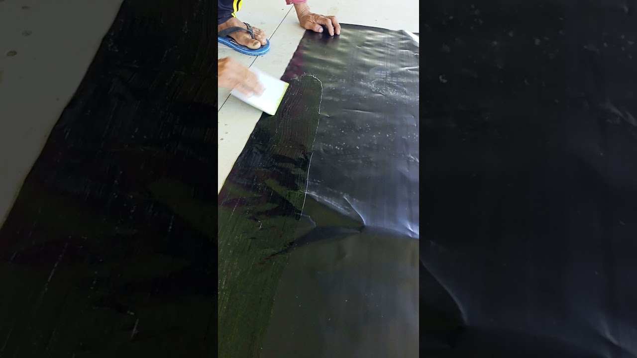วิธีต่อผ้ายางบ่อปลา1