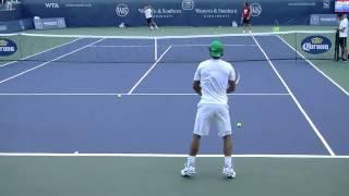 Удар слева в большом теннисе