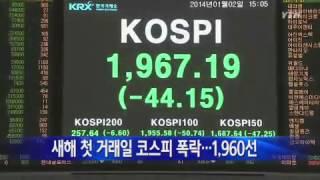 새해 첫 거래일 코스피 폭락...1,960선 / YTN
