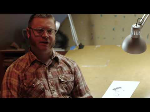 Tony Moore, artist of The Walking Dead, sketches his favorite comic book character