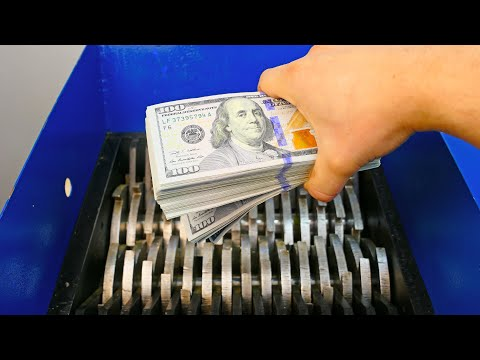 NEVER DO THIS! Shredding REAL Money!