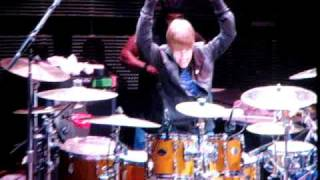 Justin Bieber playing the drums @ the Houston Rodeo