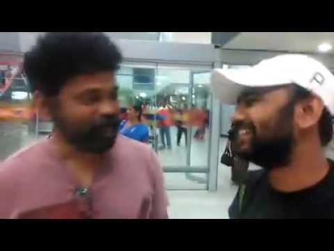 Sukumar in the airport