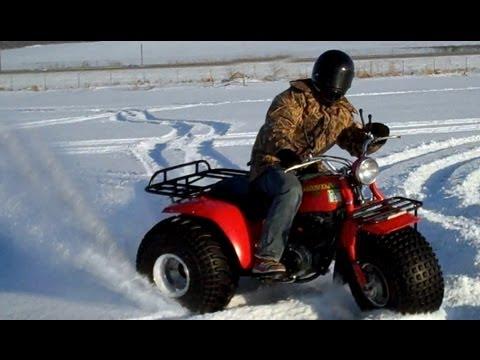 Awesome atc 185 3 wheeler atv in snow youtube awesome atc 185 3 wheeler atv in snow sciox Image collections