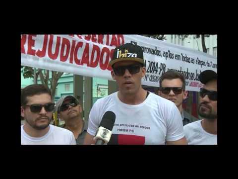 Policiais protestam por melhores condições de trabalho em Campina Grande