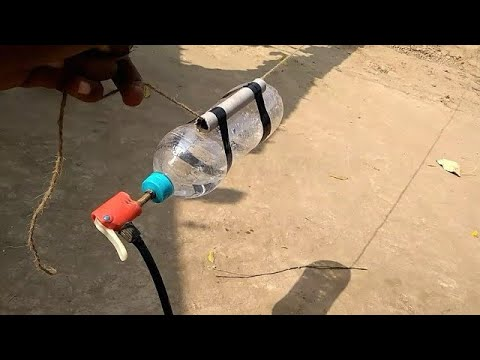 HOW TO MAKE WATER BOTTLE ROCKET. at home very easy tutorial