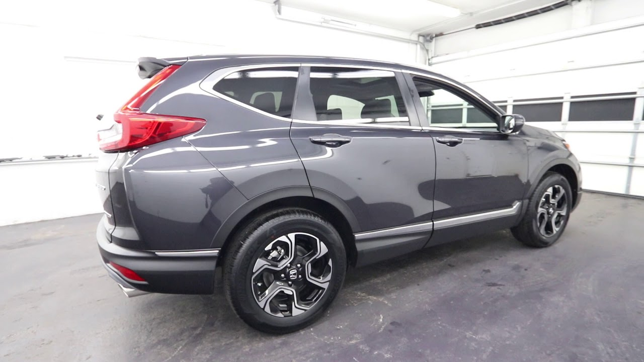 2018 Honda CR-V Touring | Gunmetal Metallic | Seattle | Burien | Renton - YouTube