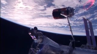 HTV-6 departs the International Space Station