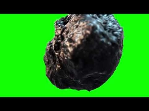 Free Green screen | realistic asteroid | meteor | space | galaxy [HD] thumbnail