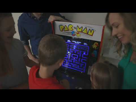 Arcade1Up Pac-Man Home Arcade Machine With Riser And Vintage Sign On QVC