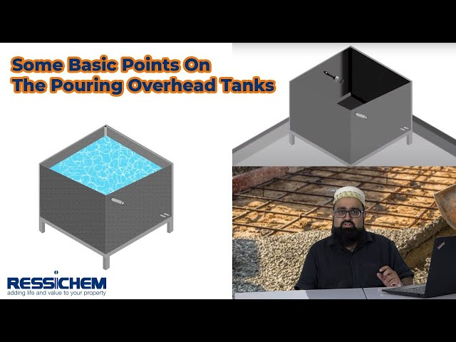 A General overview for the pouring and Waterproofing of Over Head Tanks   Ressichem #Overheadtank