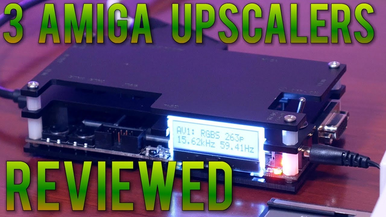 Connect your Amiga to a modern display  OSSC, Framemeister, Cheap SCART -  Compared and Reviewed !