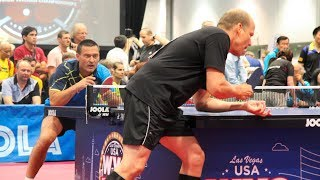 2018 World Veteran Championships Table Tennis - Singles Semis & Finals - Table 4