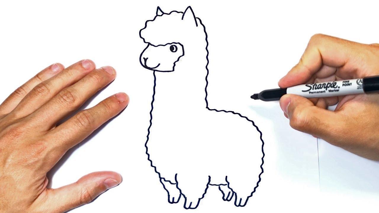 Como Dibujar Una Llama O Alpaca Paso A Paso Youtube