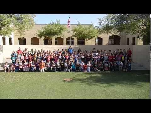 Desert Vista Elementary School students and teachers