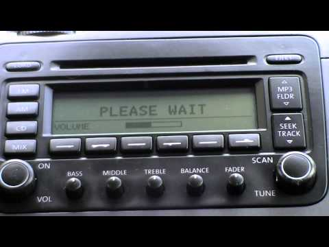 VW JETTA 2005 RADIO - cdc hardware error - vw Jetta 2.5 start up