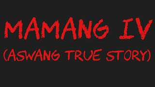 MAMANG IV (Aswang/Engkanto Story) *True Story*