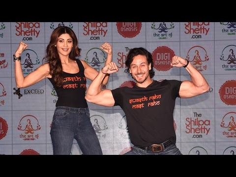 Shilpa Shetty & Tiger Shroff Launch Shilpa's New Fitness Website Full Video HD