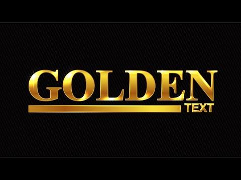 Golden Text Adobe Illustrator Tutorial - YouTube