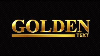Golden Text   Adobe Illustrator Tutorial