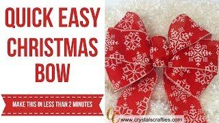 Quick Easy Christmas Bow